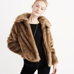 Abercrombie & Fitch Faux Fur Short Jacket XS